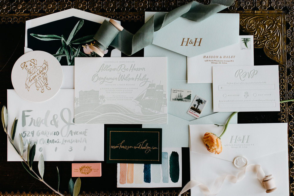 Custom Wedding Invitations — Allie Hasson | Modern Heirloom Wedding ...