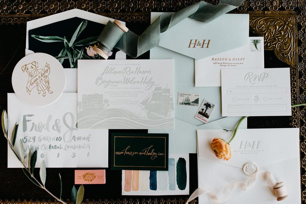 Custom Wedding Invitations Allie Hasson Modern Heirloom Wedding