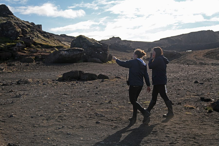 On Location in Iceland During Production of 'Days of Gray'
