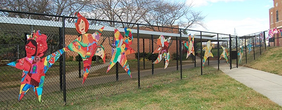 "Bates Art Magnet Middle School, ""Students Taking Flight""   ARTWALK  with Bates Art Students"