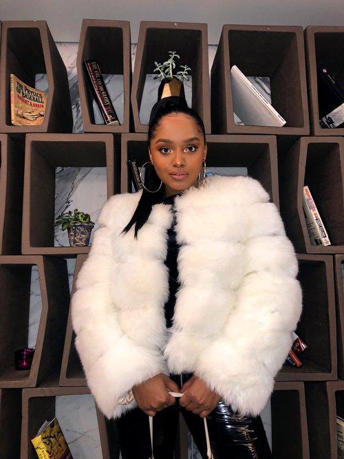 452924b0d7b6 Princess Mia Coat Faux Fur- White