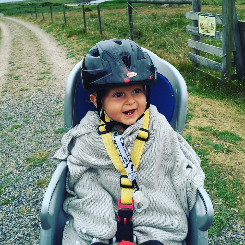 First bike ride... you think he likes it?