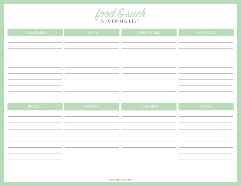Grocery Store Food and Such  Free Printable | Made with Love by @collettelazor