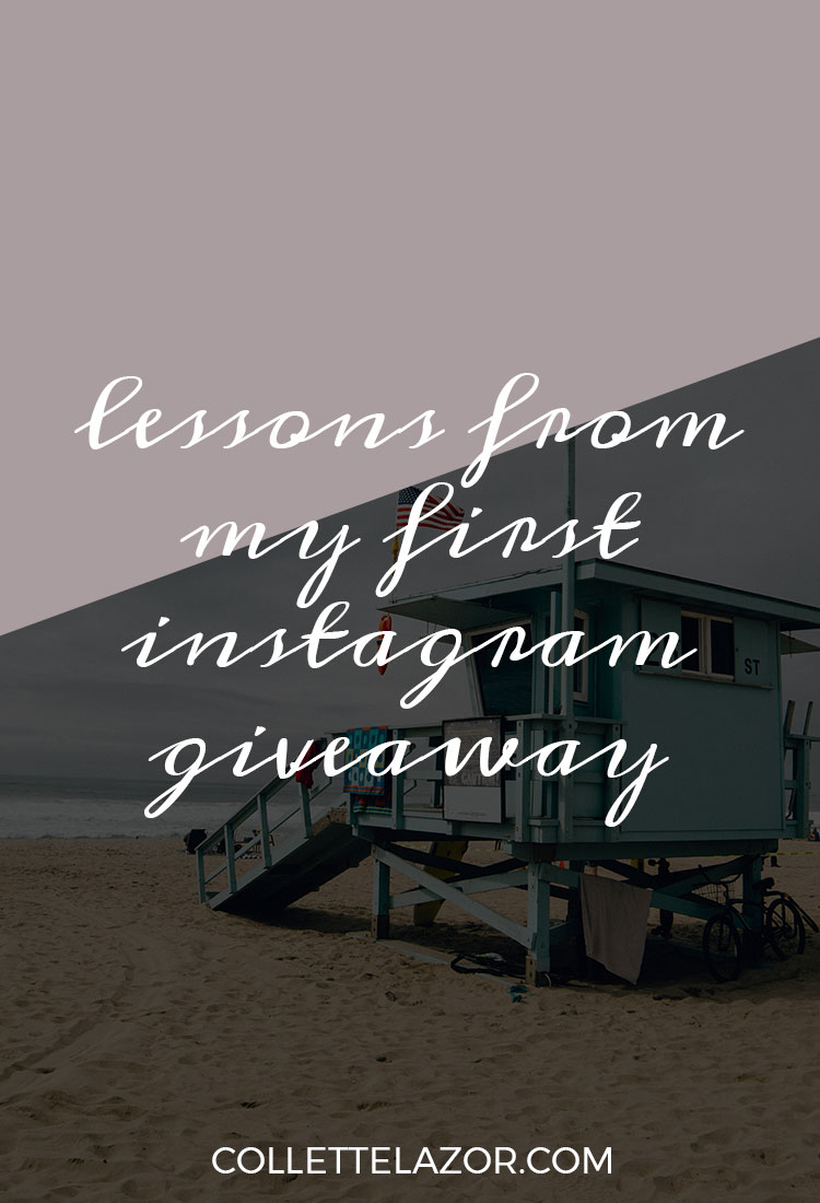 What You Can Learn From My Big Instagram Giveaway Mistake - Plus, Some Good Tactics by @collettelazor