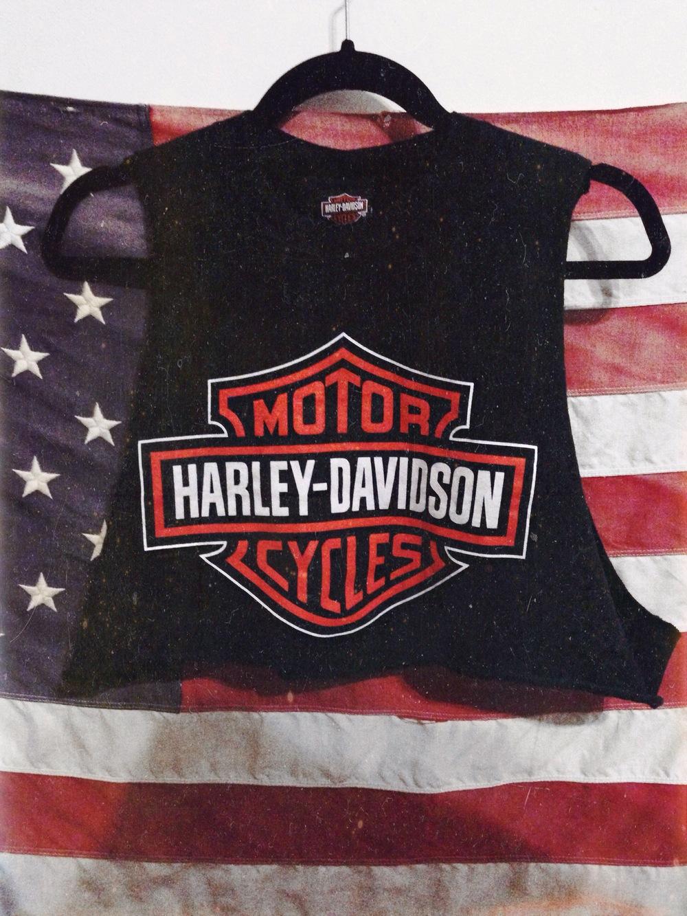 4c90ac42e3f Harley Davidson crop top — american gypsy vintage