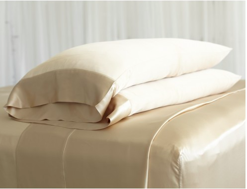 For beauty sleep...a set of silk pillowcases. (Source:  Manito )