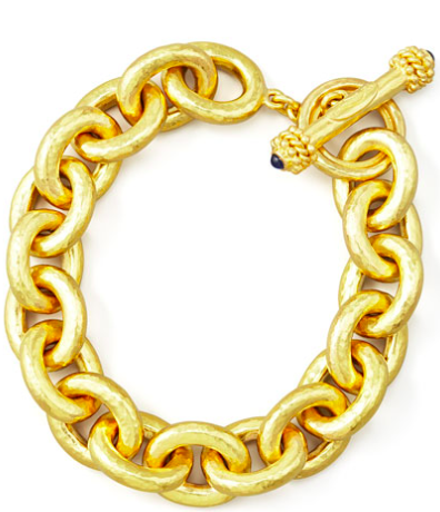For a splurge...a gold Elizabeth Locke bracelet.