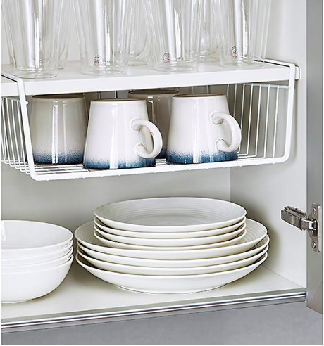 Henry & Higby Small Space Organizing Undershelf Basket