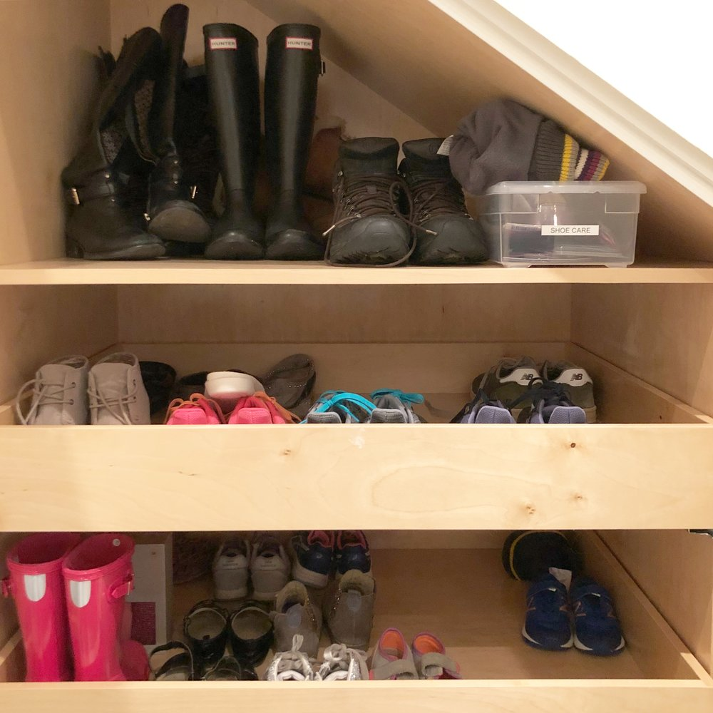 Henry & Higby Organizing Coat Closet Shoes.JPG