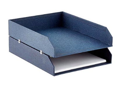 Bigso Marten Navy Stackable Letter Trays