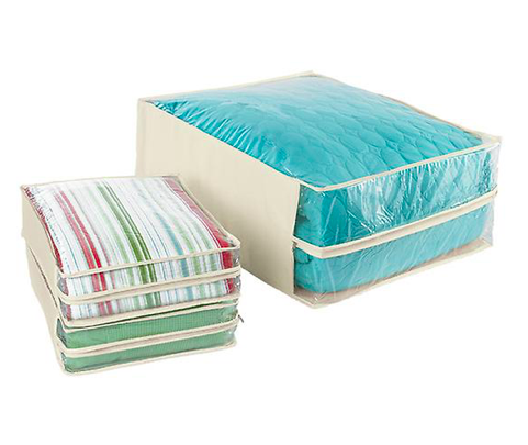 Natural Cotton/PEVA Storage Bags