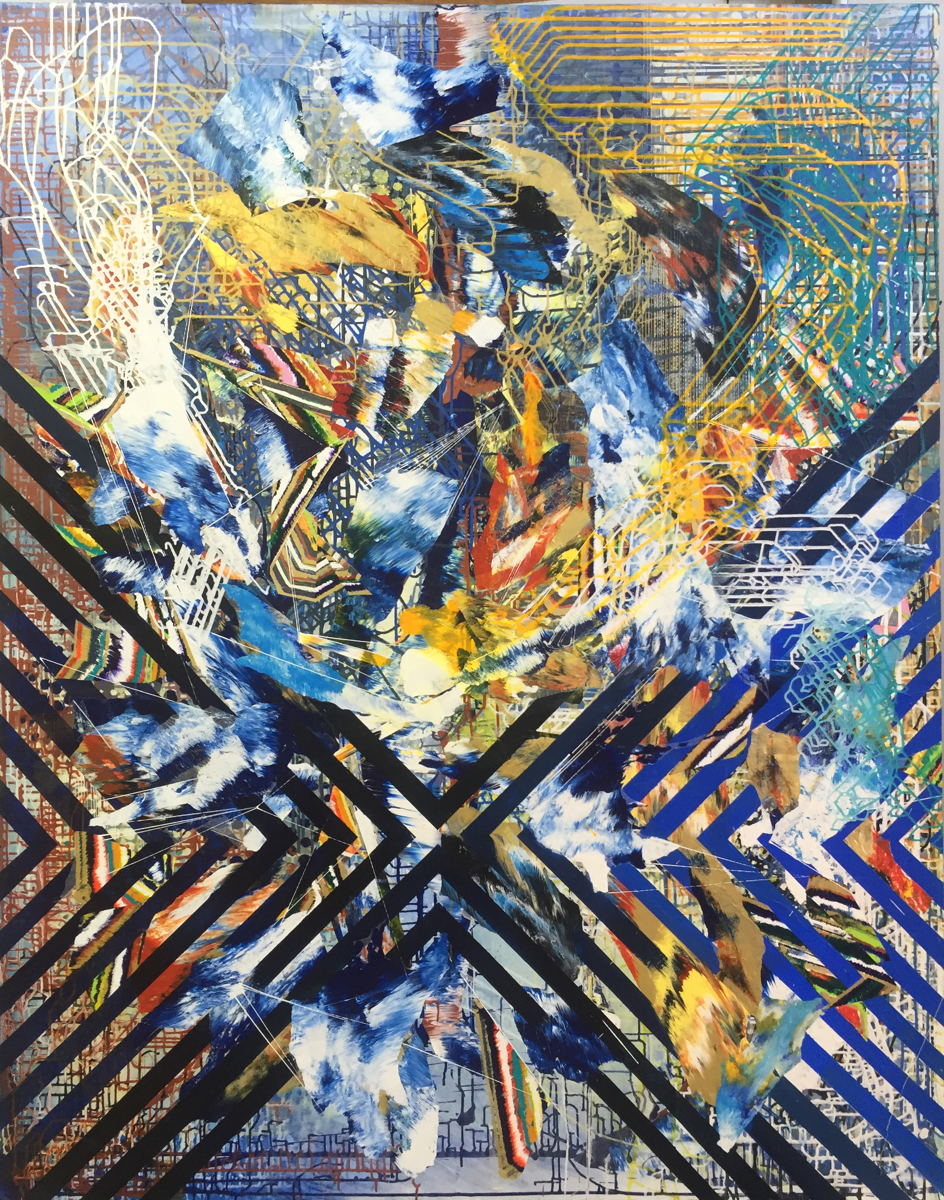 "Trap, 83""x65"", acrylic on canvas, 2016"