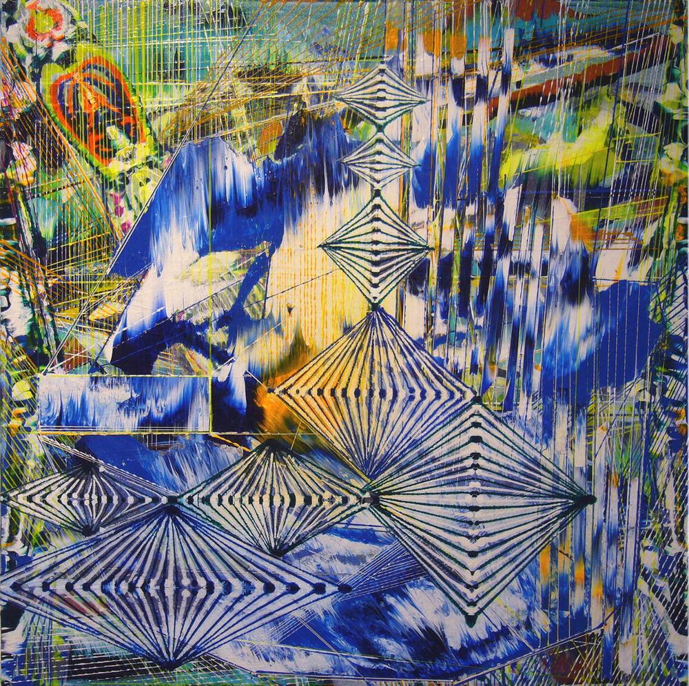 "Doppler , 2012 Acrylic & glassine on canvas 24""x24"""