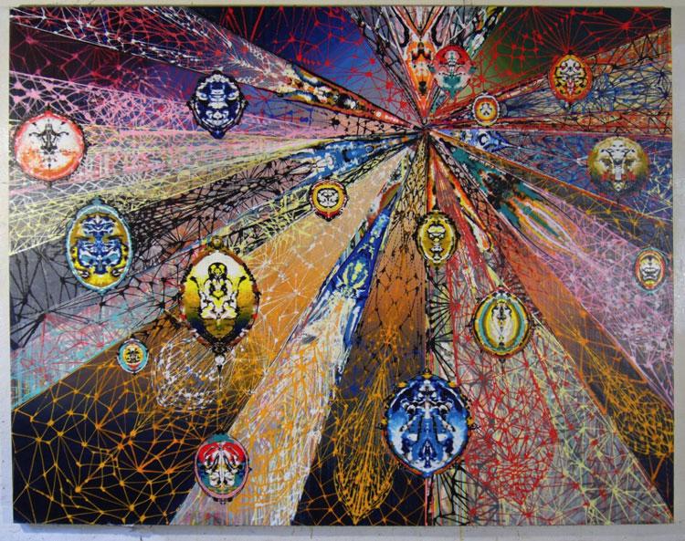 Entropy,  2010 Acrylic on cnvas, 76 X99