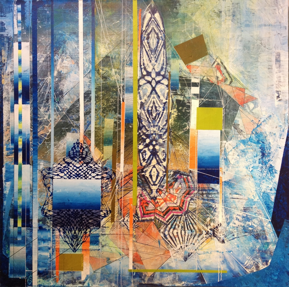 """2014 Acrylic and glassine on canvas 30""""x30"""""""