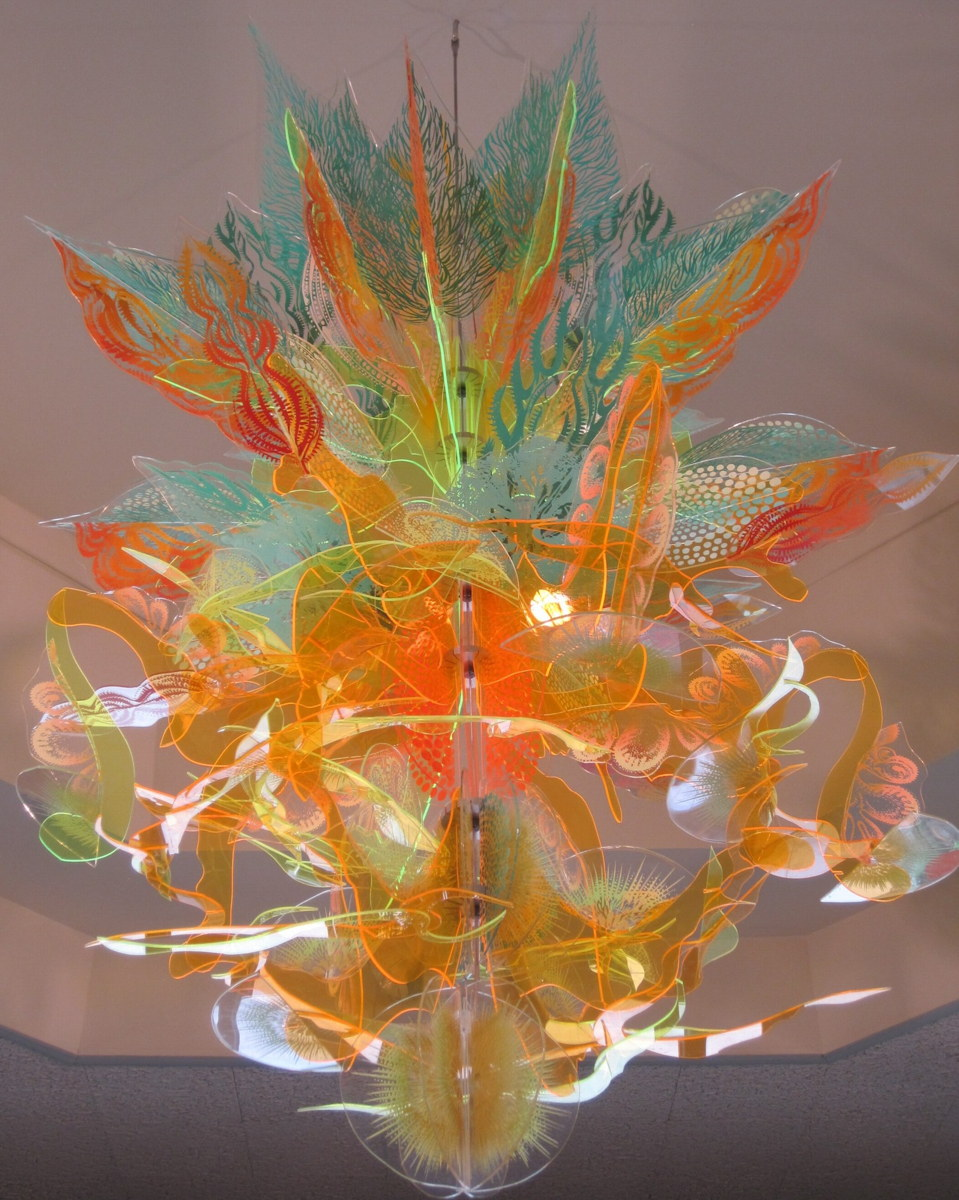 Hydra,  2013  acrylic on plexiglass, steel rod