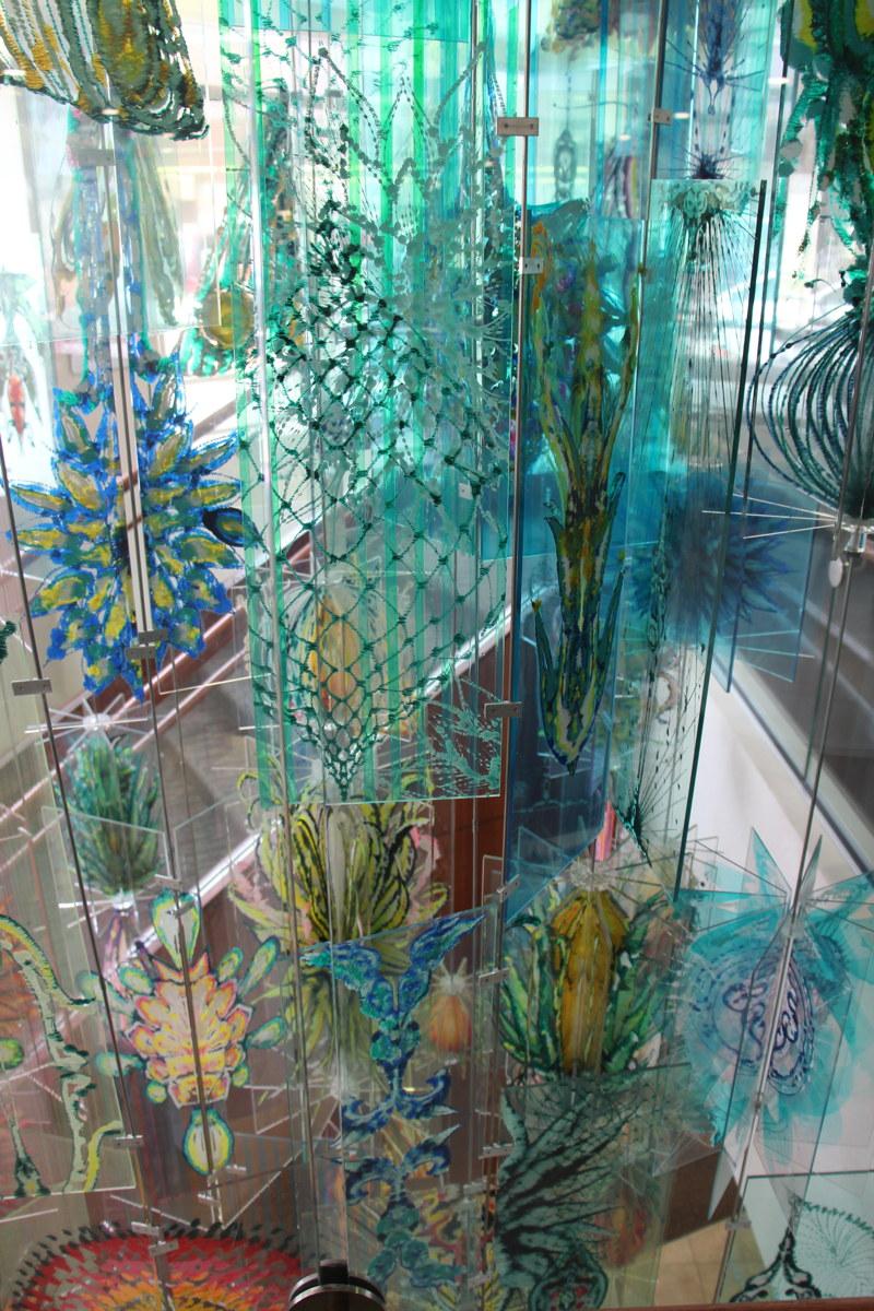 """Giardini, 2007  acrylic on plexiglass, stell rods, 240""""x200""""x180"""""""
