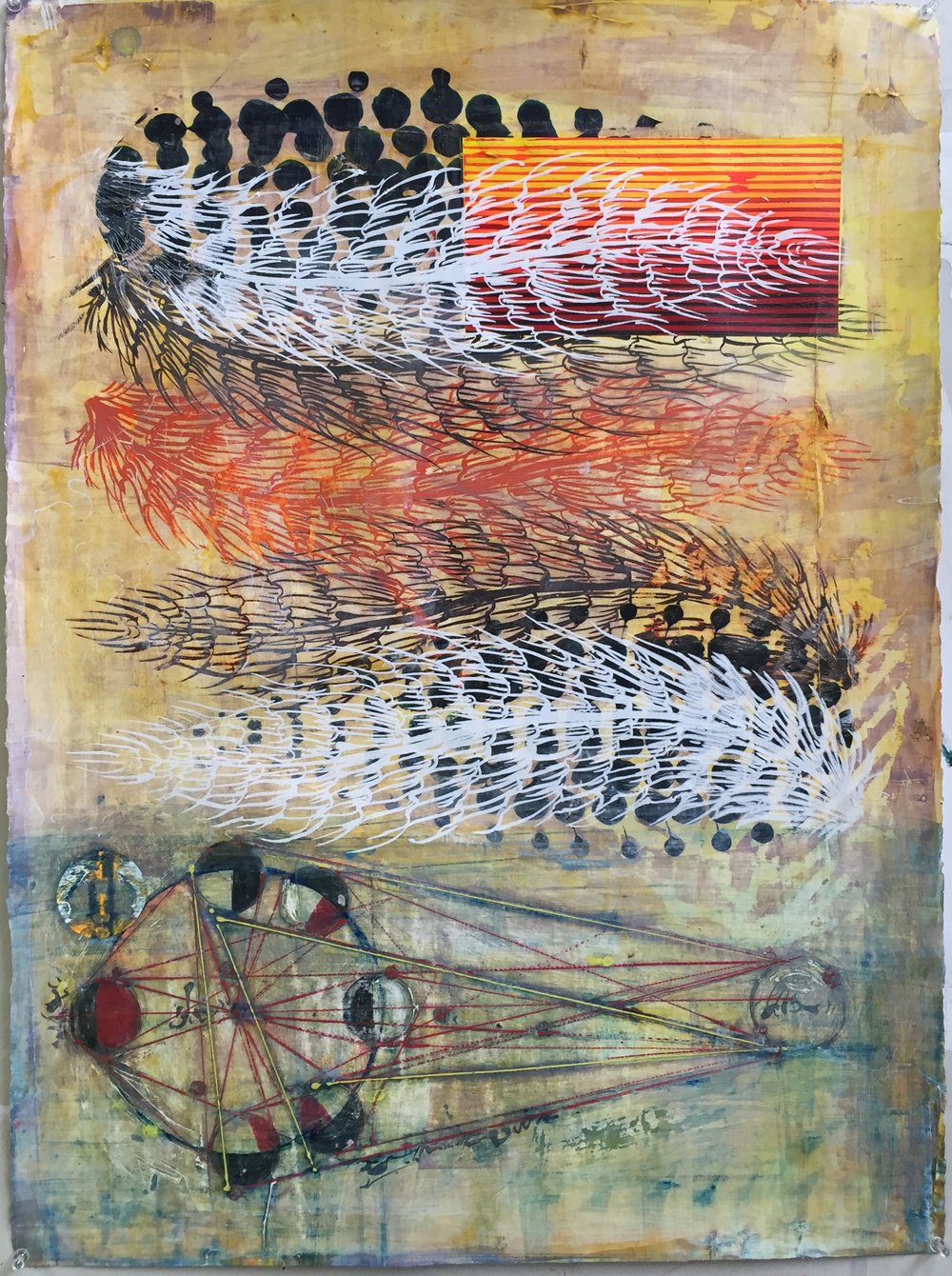 "Acrylic on paper, 30""x22"", 2016"
