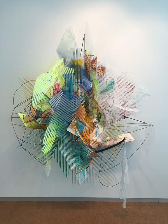 """Plexiglas, steel, acrylic paint, 75""""x88""""x46"""", 2016"""