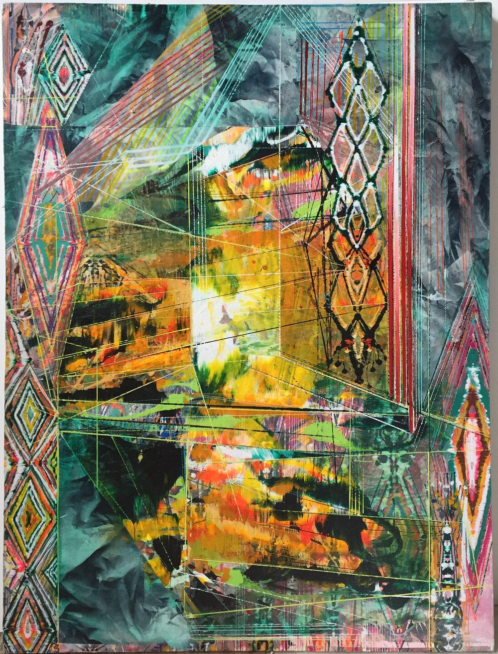 "Surrogate, 46""x34"", acrylic on canvas, 2016"