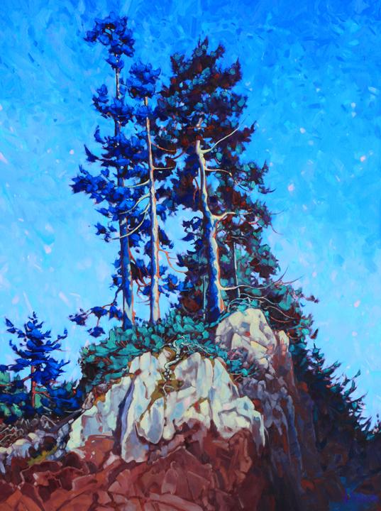 "'Coastal Blues'  48"" x 36"" oil on canvas - $ 8130.00"