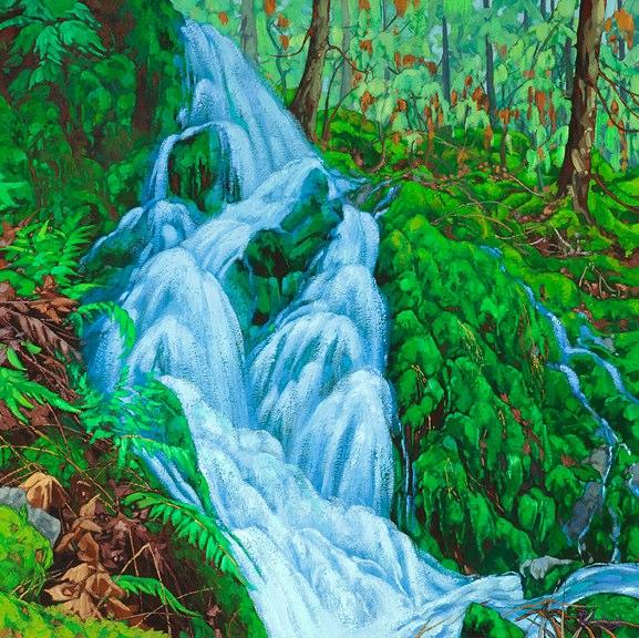 "'Rainforest Spring'  48"" x 48"" oil on canvas - $ 9230.00"