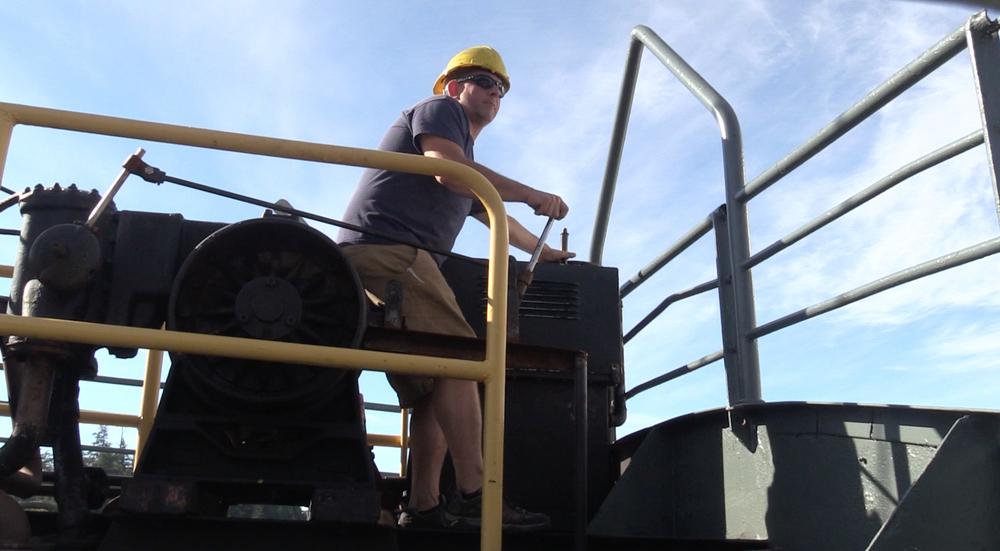 Darren on the winch