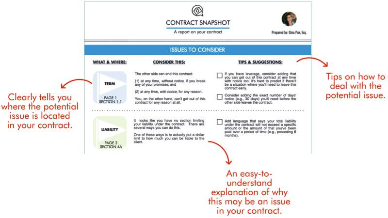 Contract Snapshot Report Sample