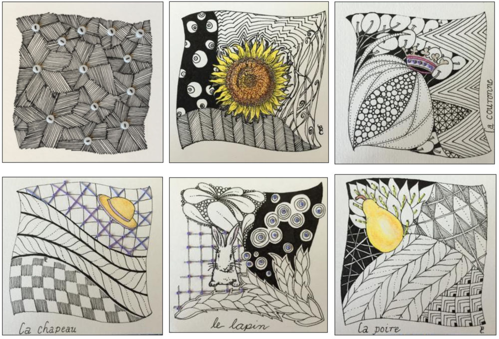 "ZENTANGLE®  ""travel tangles"" . . . beth"