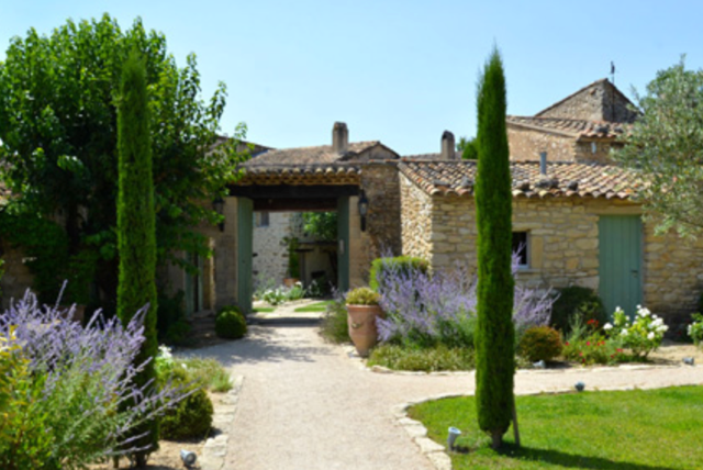 le ferme de la huppe, a restored eighteenth-century farmhouse near gordes
