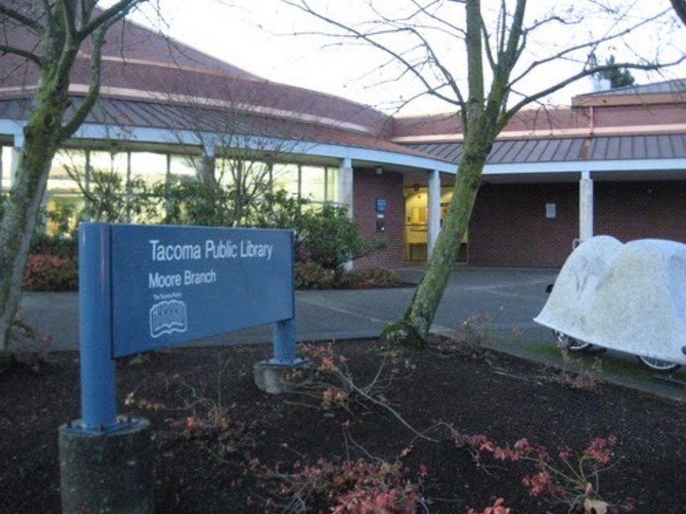 Tacoma Public Library - Moore Branch is located in South Tacoma just between Pacific and Yakima.