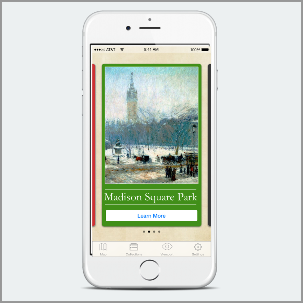 A geolocation mobile app to learn about the history of NYC