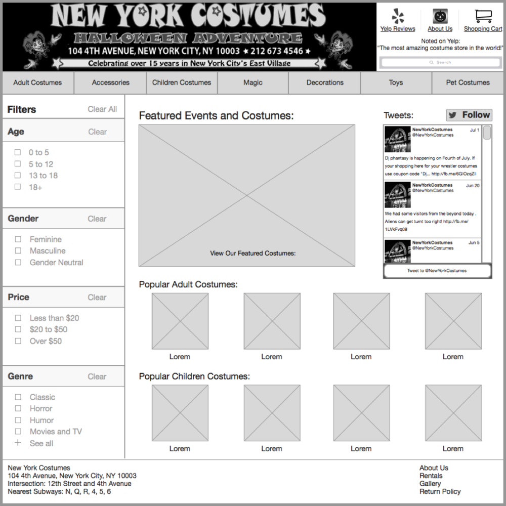 E-Commerce website redesign +Information Architecture