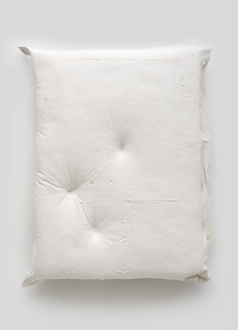 Untitled , 2014 Gypsum cement, fiberglass cloth, wood 34 x 30 x 8 inches