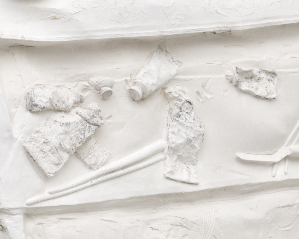 DETAIL  Palette , 2014 Gypsum cement, fiberglass cloth 48 x 36 x 24 inches