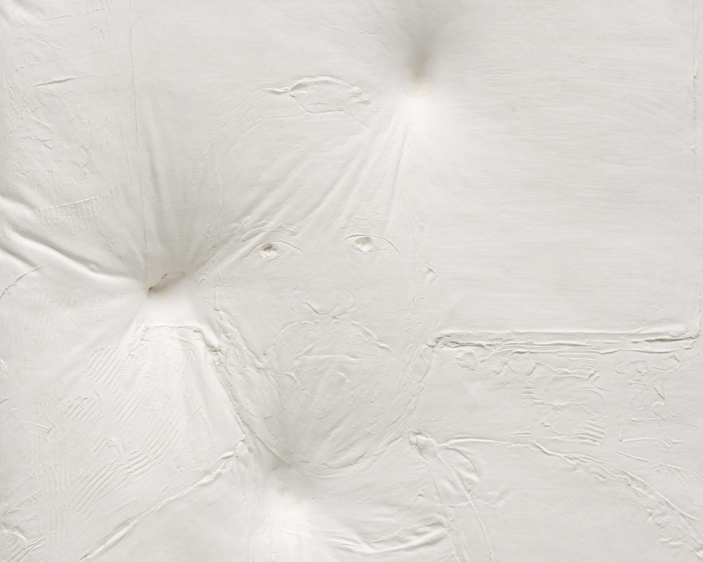DETAIL  Untitled , 2014 Gypsum cement, fiberglass cloth, wood 34 x 30 x 8 inches