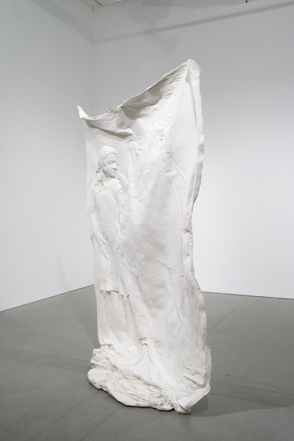 Untitled , 2014 Gypsum cement, fiberglass cloth, wood 90 x 60 x 24 inches