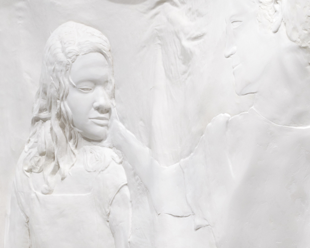 DETAIL  Untitled , 2014 Gypsum cement, fiberglass cloth, wood 90 x 60 x 24 inches