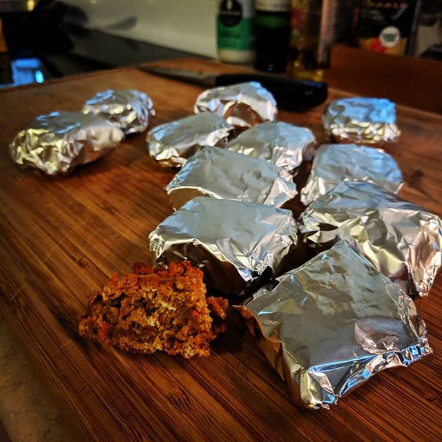 Awww yeah! Packaging up some apple-carrot cake portables to share at the High Tea Ride tomorrow. Still working out how to bring the coconut milk frosting on the bike... What are you bringing to share?  #hightearide #teatime #RideEverything