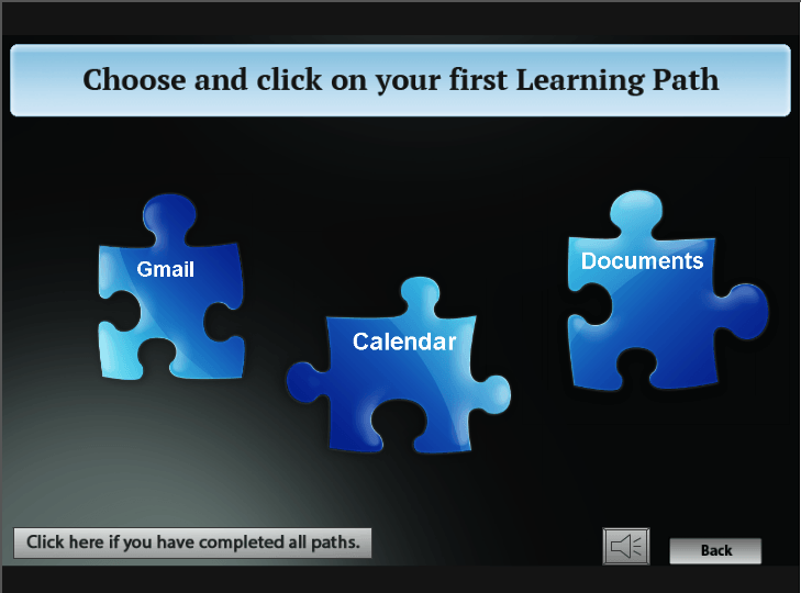 Learning Path Choice Slide