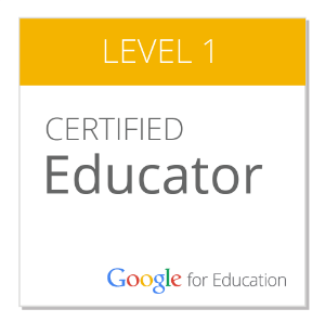 Google Certified Educator-Level I