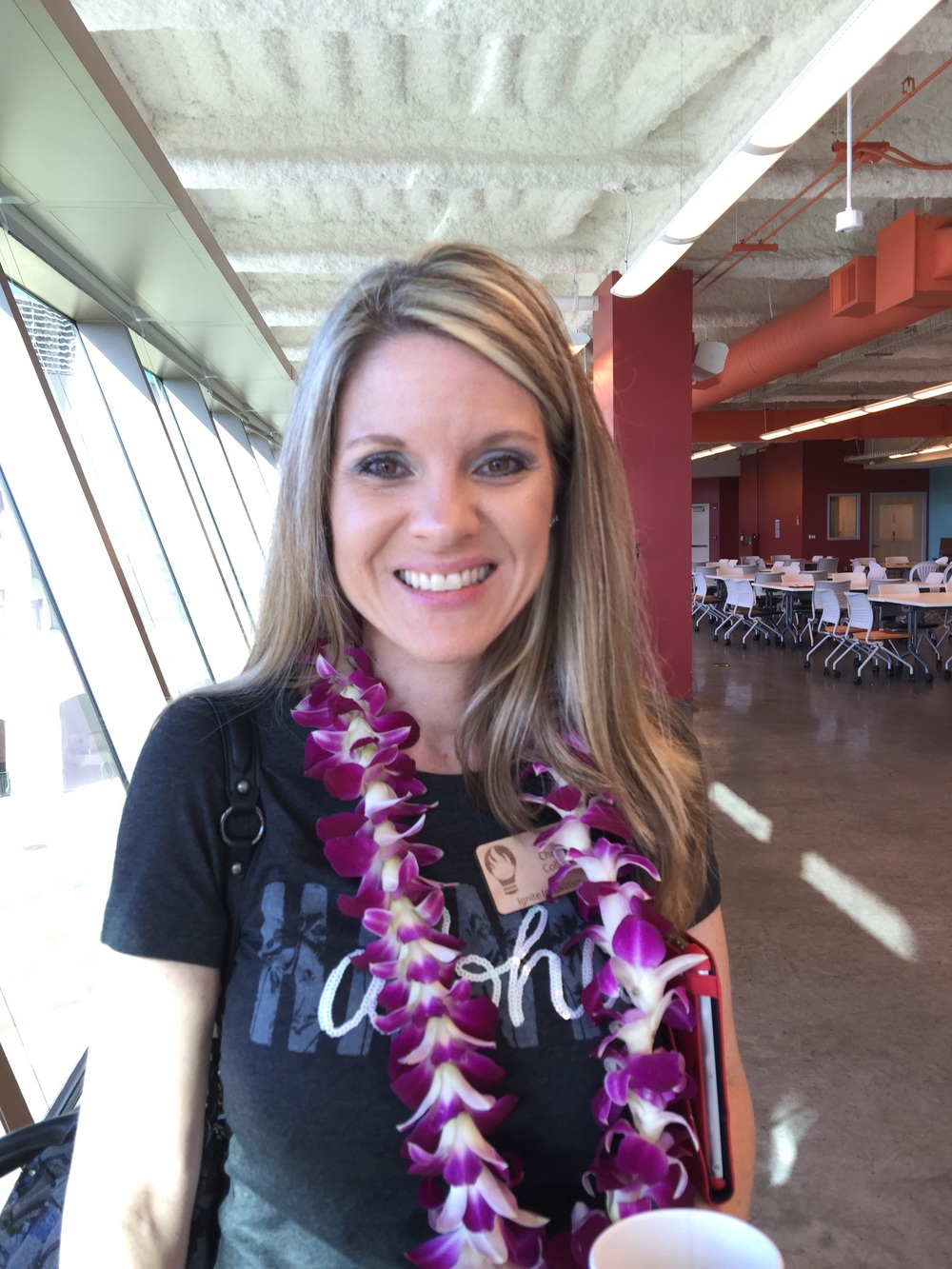 Check out the beautiful lei I was adorned with at the Ignite Iolani Conference.  This was such an amazing, fun-filled day!