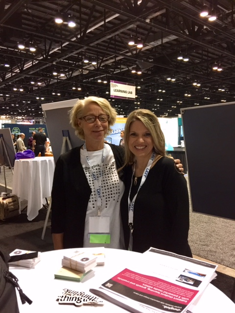 I finally met my longtime pal, Susan Oxnevad, Director of Education at Thinglink.
