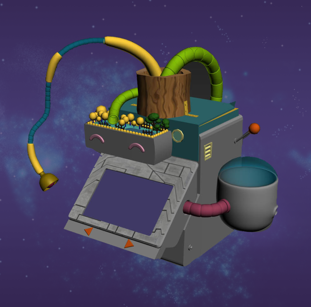 3D model of the machine