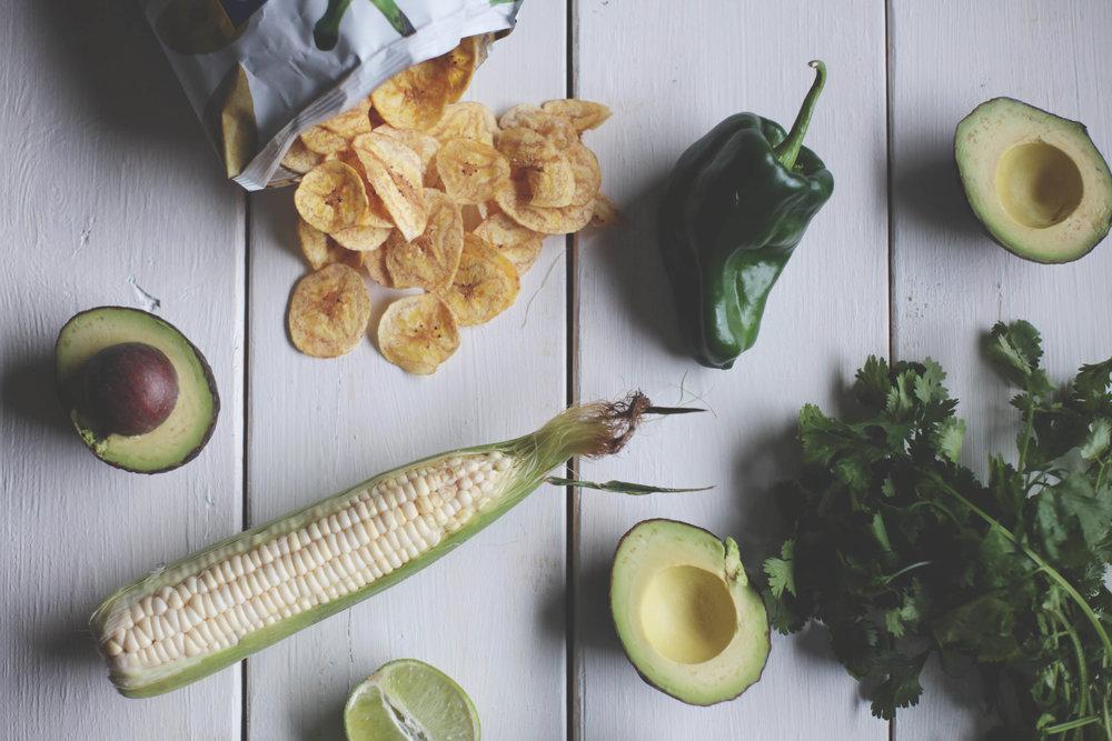 Charred Corn and Poblano Guacamole