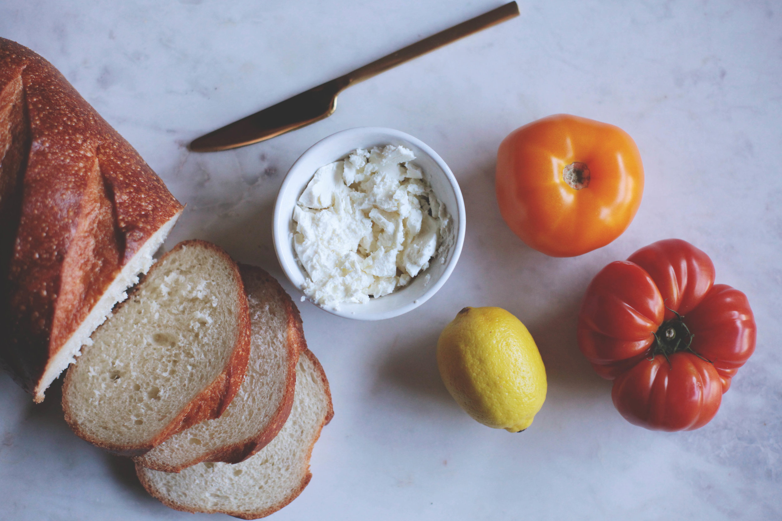 Heirloom Tomato and Goat Cheese Crostini- Tastemaker Blog