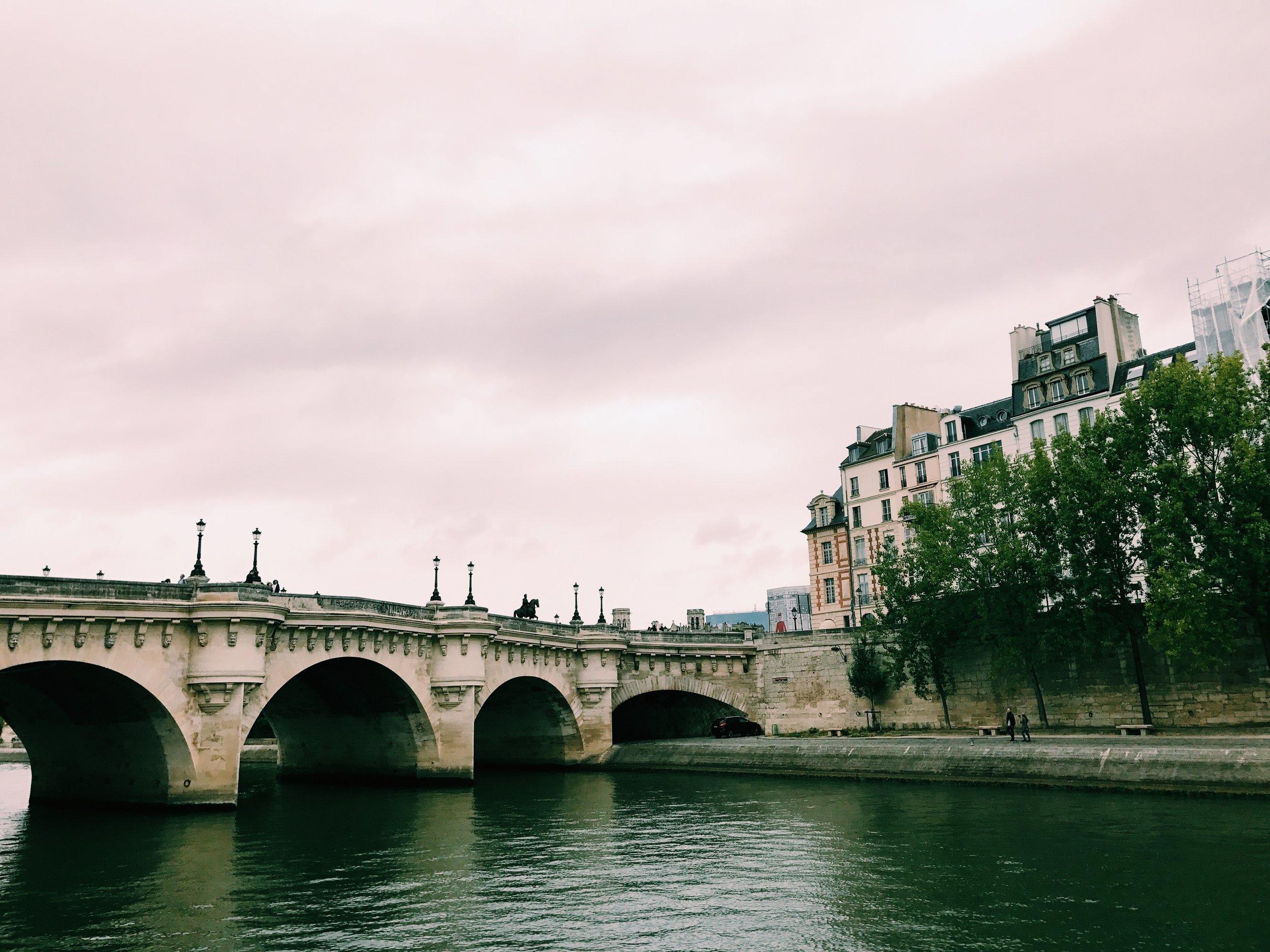 View from the Seine, Ile de la Cite