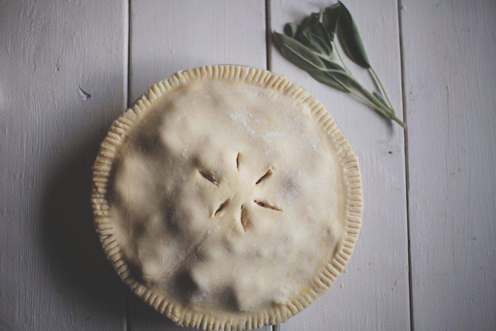 Chicken Pot Pie with Bacon and Sage - Tastemaker Blog