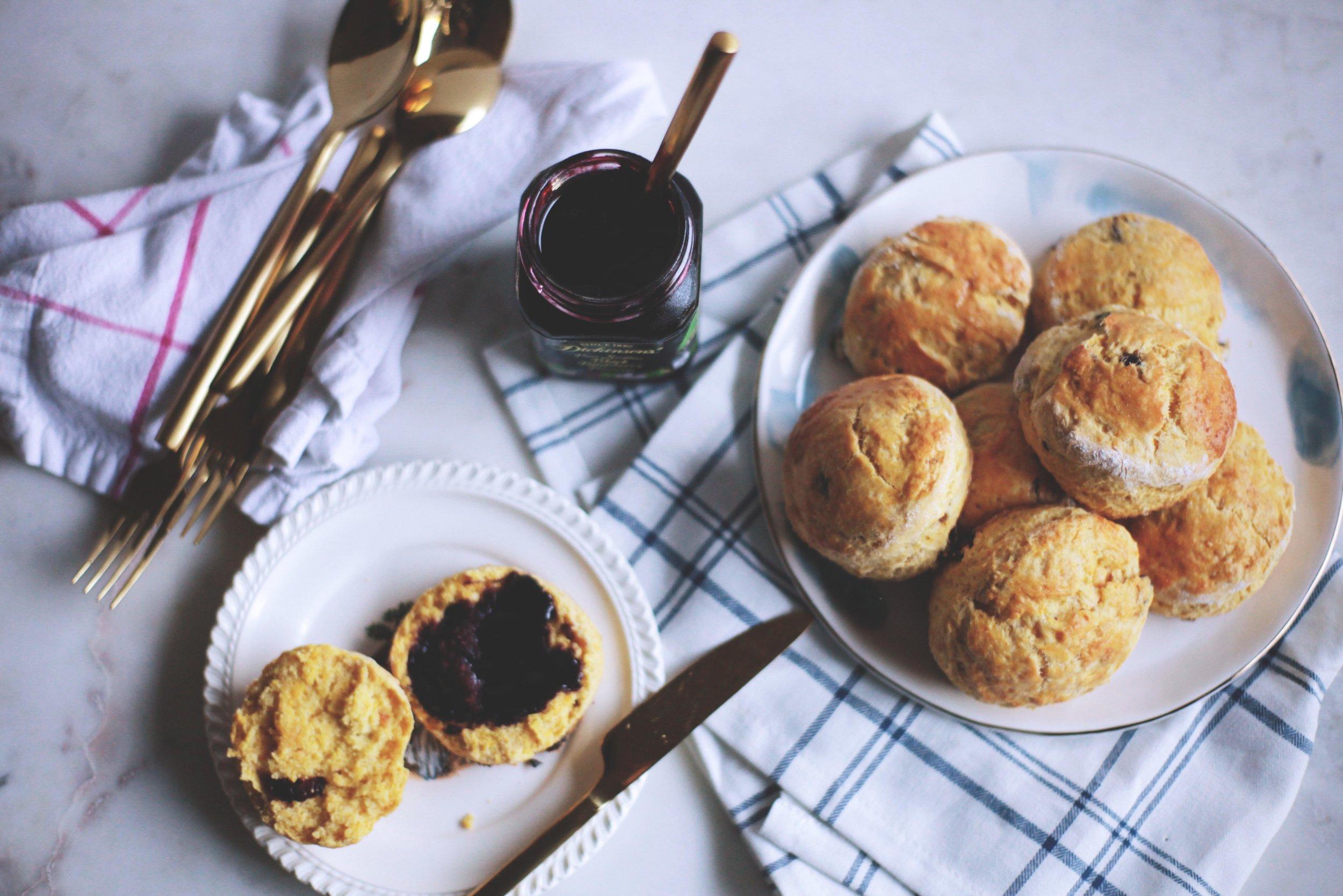 Pumpkin Cranberry Buttermilk Scones - Tastemaker Blog