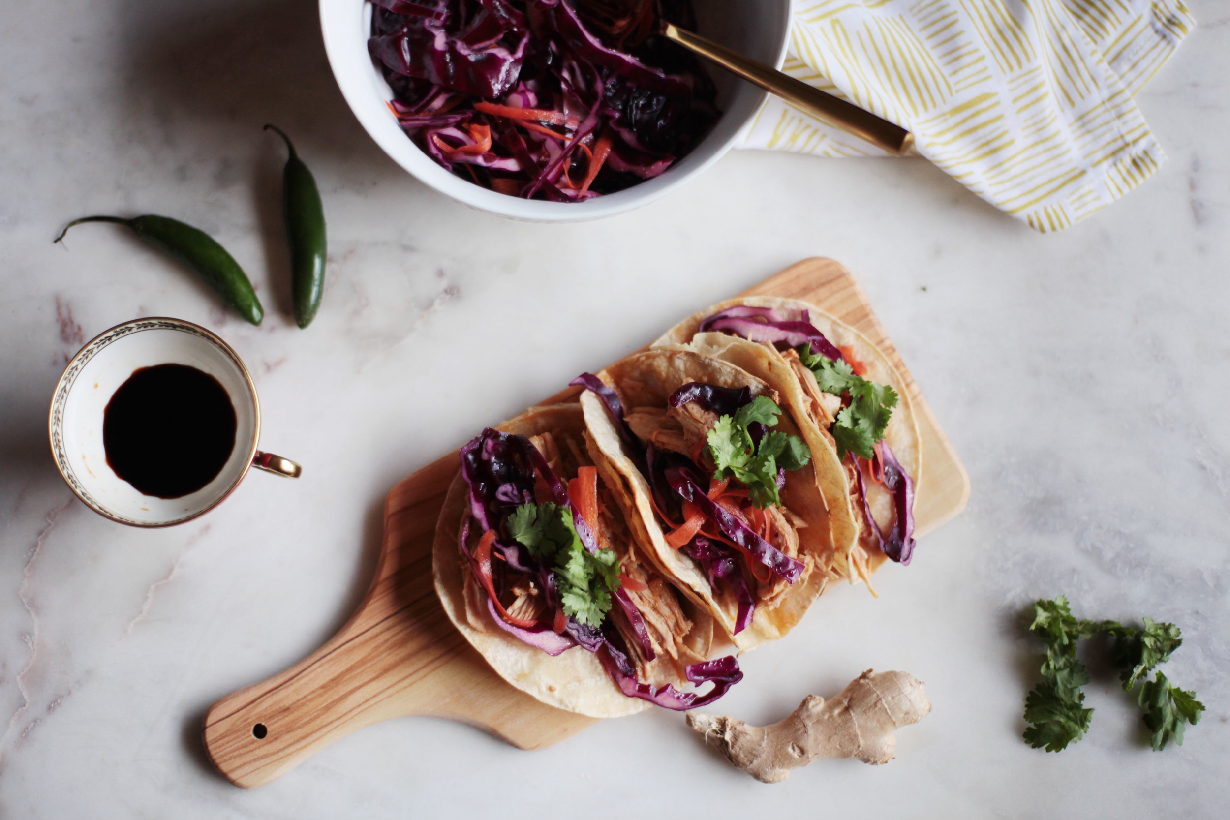 Korean Barbecue Tacos with Vinegar Slaw - Tastemaker Blog